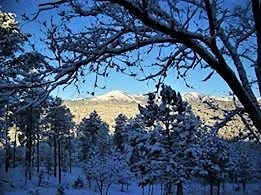 White Mountain peaks could be seen as far as the eye could see after the snowfall on March 31, in Lincoln County.