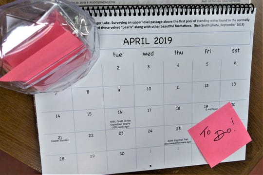 April's Calendar of Events