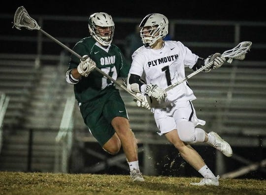 Plymouth's Harrison Albano has scored 24 points in four games.