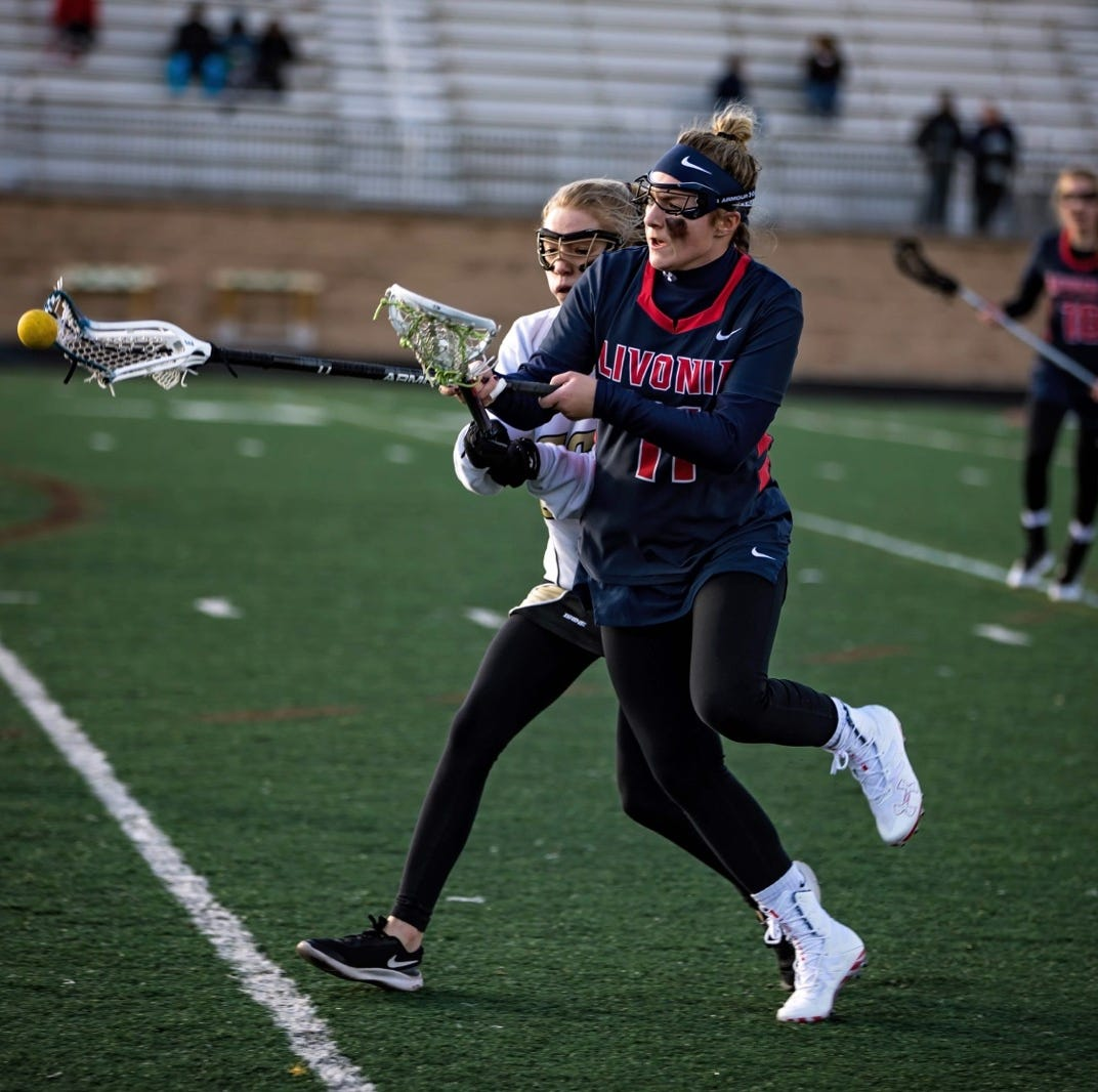 Livonia United's Maddy Champagne sets MHSAA lacrosse record
