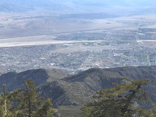 A view of the Coachella Valley from the Palm Springs Aerial Tramway.