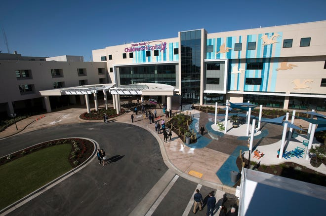 The Studer Family Children's Hospital at Sacred Heart.