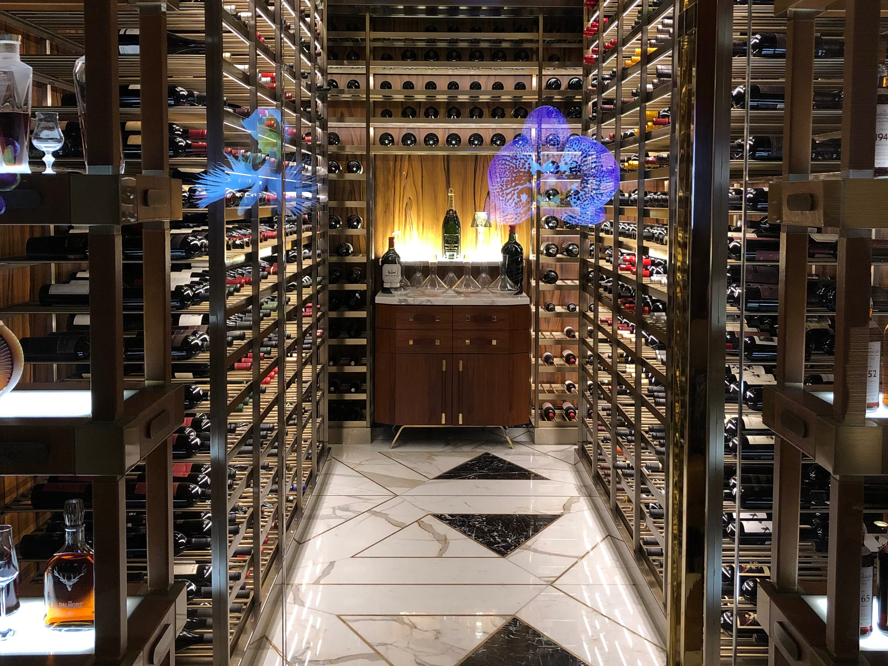A look at the collection of scotch inside Scotch 80 Prime, the steakhouse inside the Palms Casino Resort in Las Vegas.