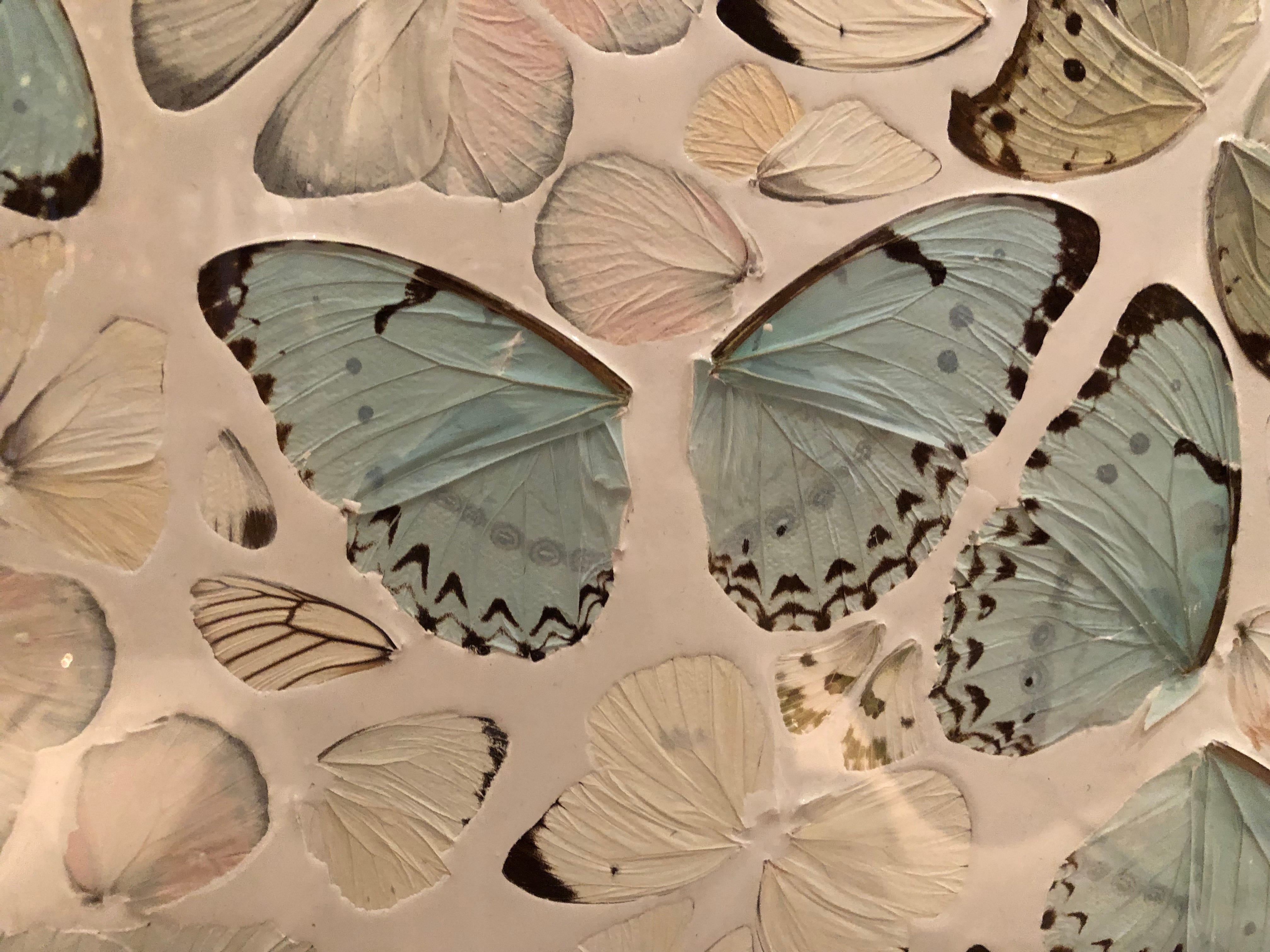 """Damien Hirst's """"The Believer"""" in Scotch 80 Prime steakhouse in the Palms Casino Resort in Las Vegas is made up of thousands of butterfly wings"""