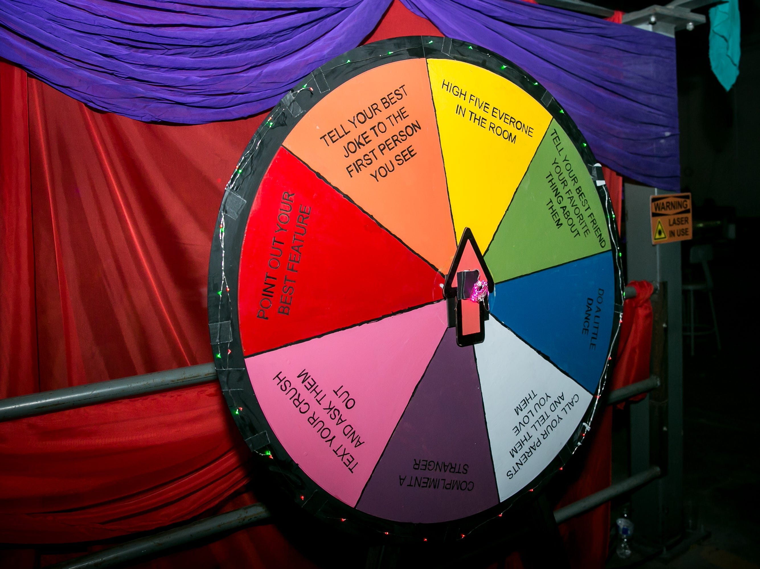 This wheel was a great icebreaker during Bloom at The Where?House Gallery on March 30, 2019.