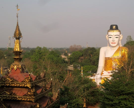 The Shwesandaw Pagoda complex in Pyay, Myanmar.