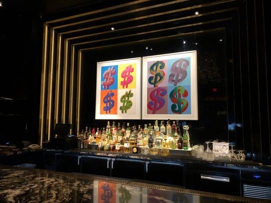 Andy Warhol artwork in the high rollers section of the casino at the Palms Resort Casino in Las Vegas.
