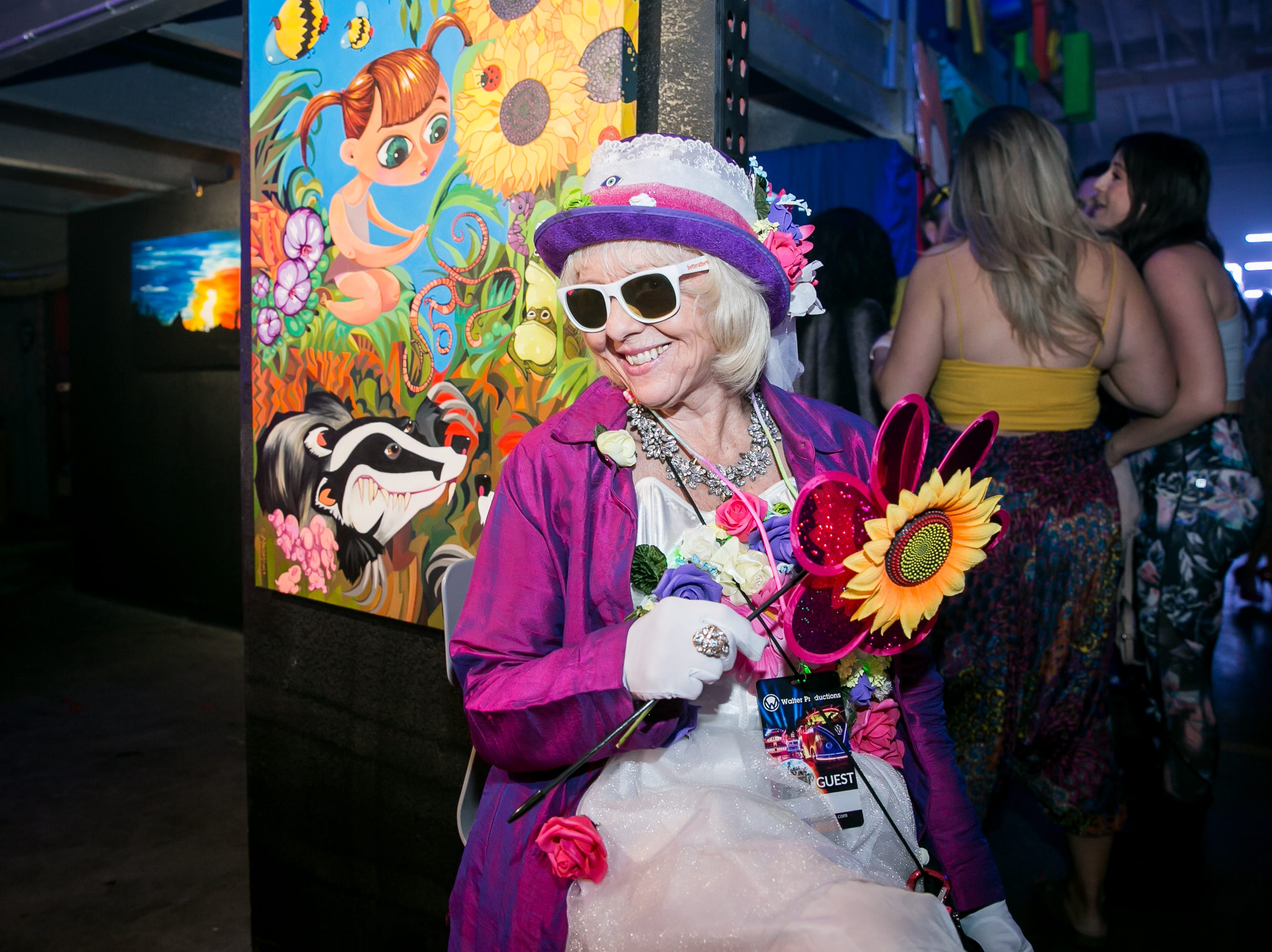 This attendee looked great during Bloom at The Where?House Gallery on March 30, 2019.