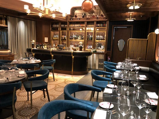 A peek inside Sara's by Michael Symon in the Las Vegas Palms Casino Resort. The intimate 45-seat supper club is hidden in Symon's 250-seat barbecue restaurant. Sara's is named after the mother of Symon's business partner.