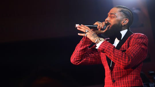 Nipsey Hussle performs onstage at the Warner Music Pre-Grammy Party at the NoMad Hotel on February 7, 2019 in Los Angeles.
