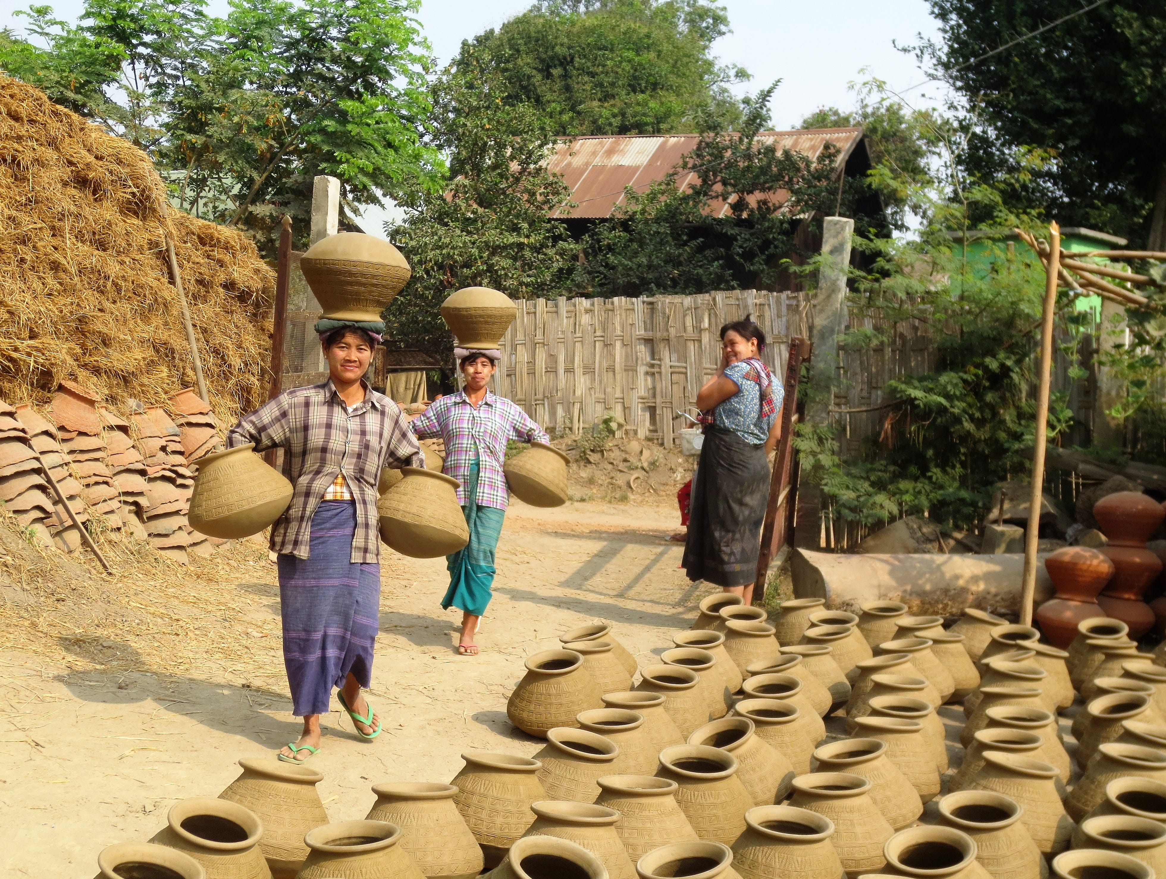 The village of Yandabo, Myanmar, famous for its handmade pottery.