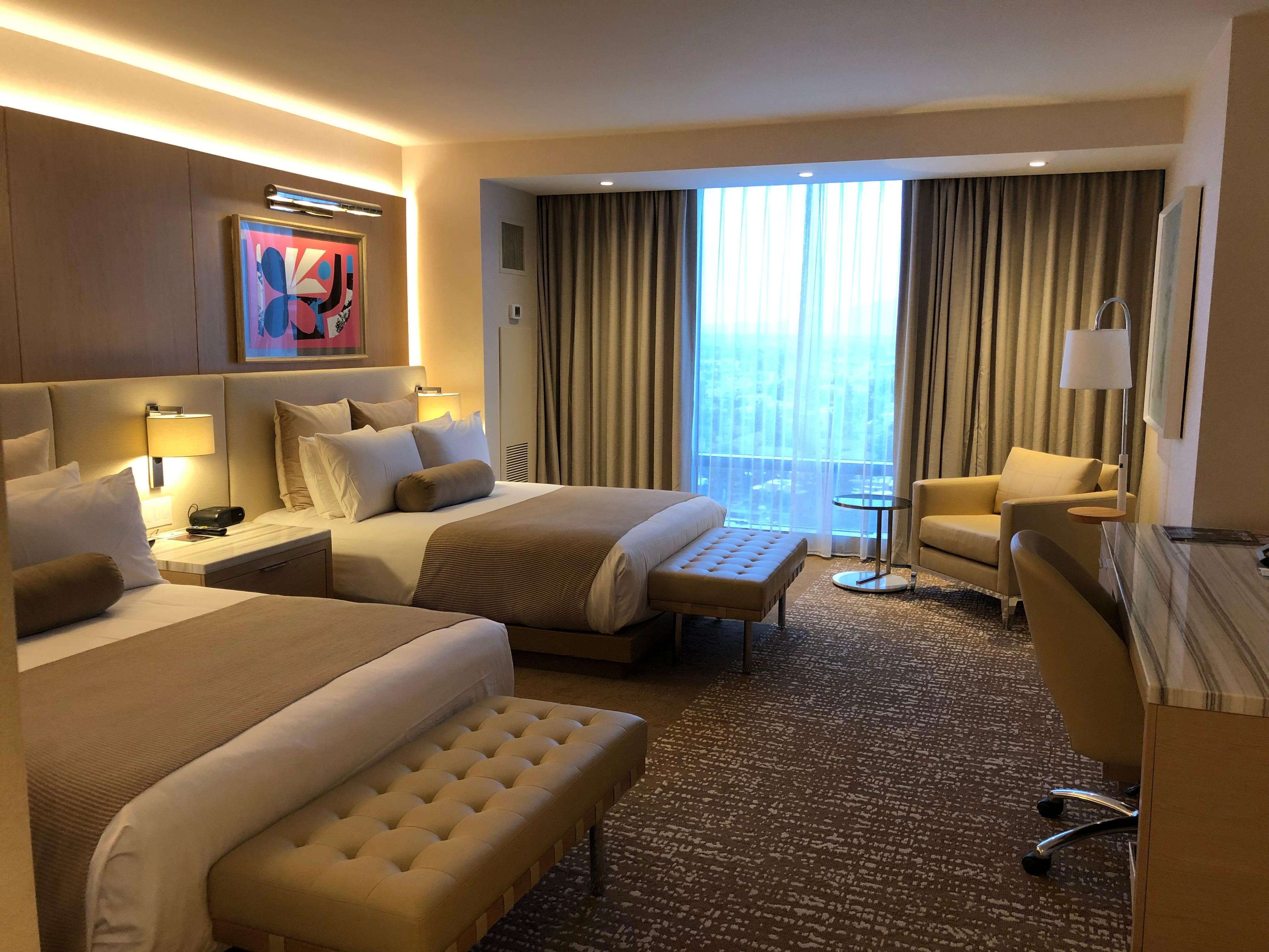 A standard room at the Palms Casino Resort in Las Vegas.
