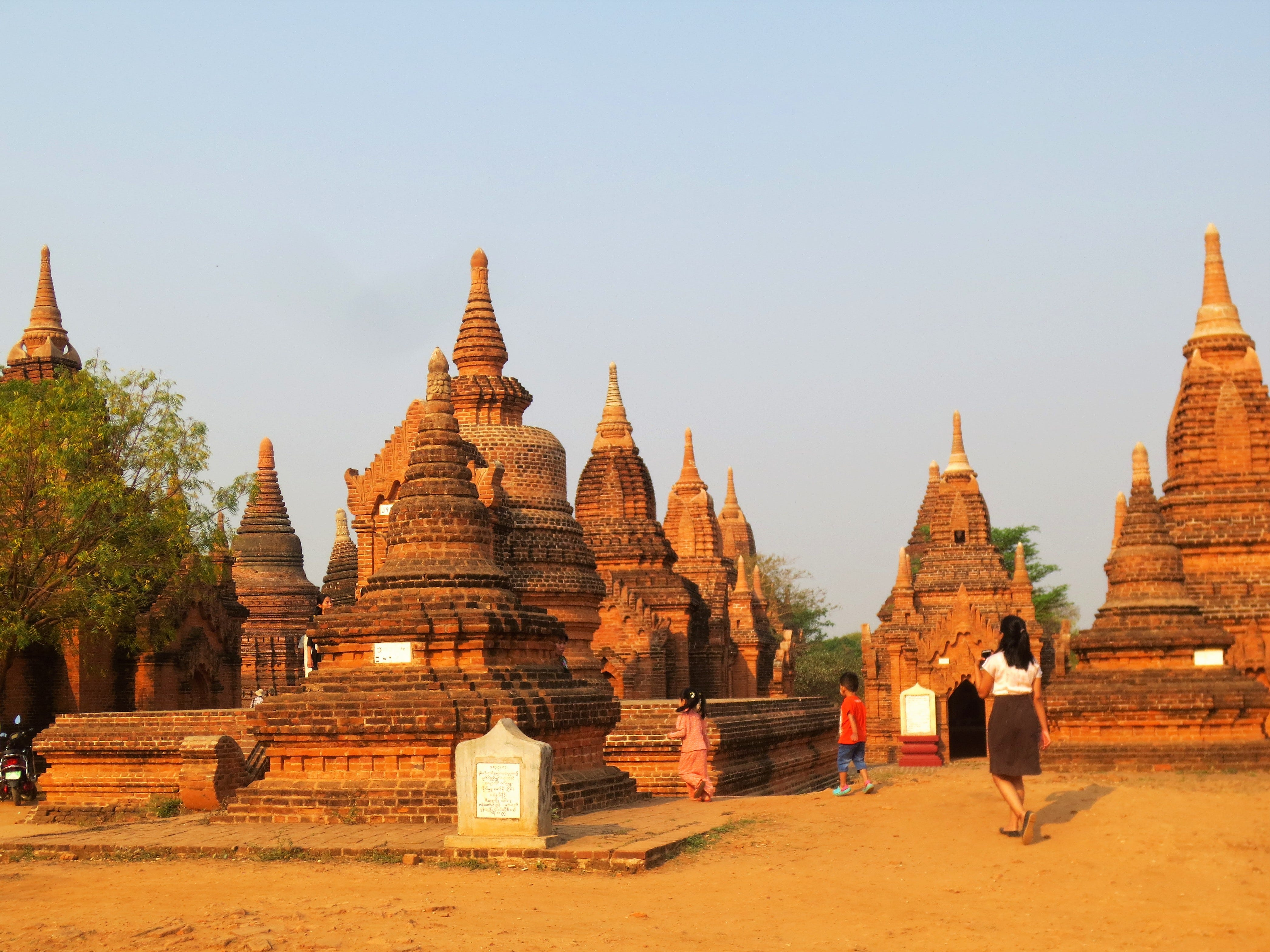 The archaeological site in Bagan, Myanmar, features more than 2,200 Buddhist shrines, some dating back 1,000 years.