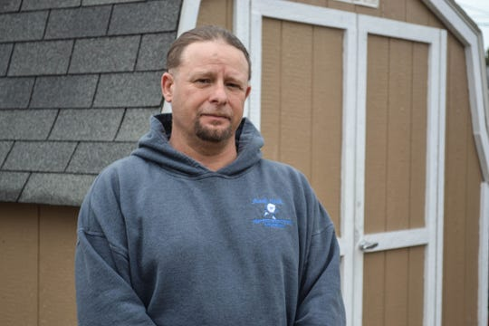 """Light House Sober Living Resident Assistant Eric Ross spends part of each day helping other men navigate their way through addiction recovery. He has been sober since Sept. 20, 2017. Life in recovery, he said, is """"so much easier."""""""