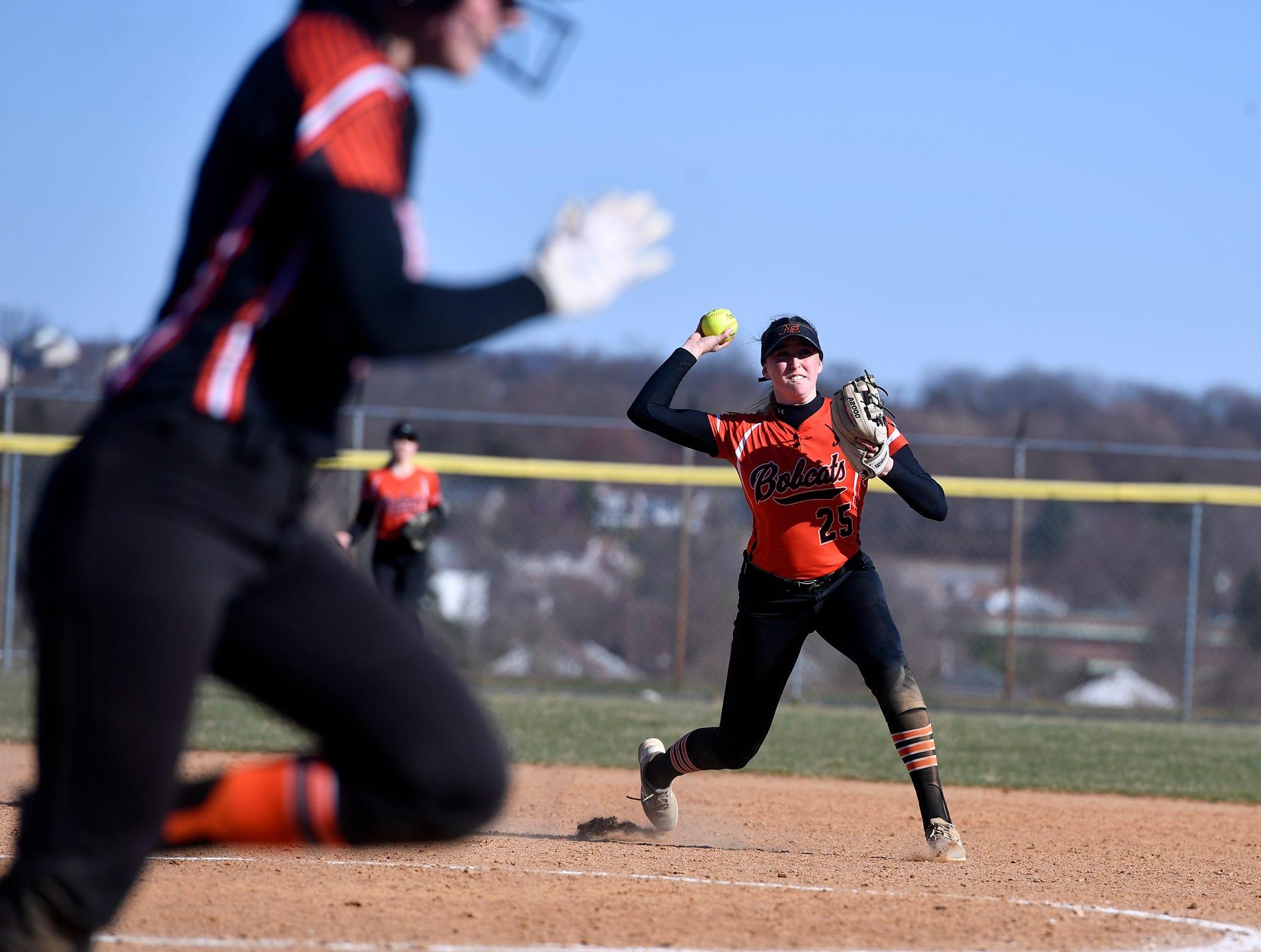 Central York at Northeastern softball, Monday, April 1, 2019.John A. Pavoncello photo