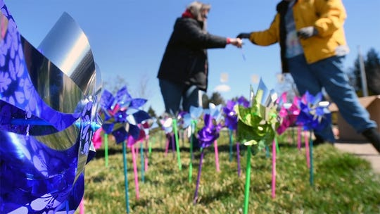 The York County Children's Advocacy Center placed hundreds of pinwheels at the intersection of Rathton Road and South George Street in York in honor of the 800 kids they served last year. The pinwheels are to raise awareness for reporting child abuse.
