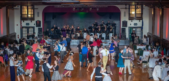 The Unforgettable Big Band and dancers are shown during last year's Big Swing Thing at the Valencia Ballroom.