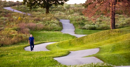 Memorial Hospital opened the cart paths at the former Hawk Lake Golf Course as walking trails, but the trails closed when construction started on the new hospital. A grant will help UPMC Pinnacle create new walking paths at the new hospital.