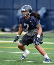 Nevada linebacker Gabe Sewell is back for his fourth season with the Wolf Pack.