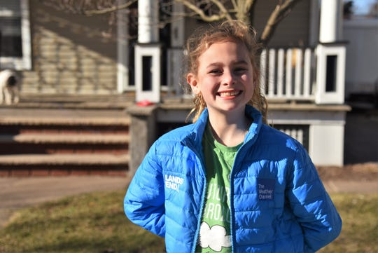 Ana Chatfield, 9, of Webster, won the national 2019 Mini Meteorologist contest and appeared on The Weather Channel on March 23.