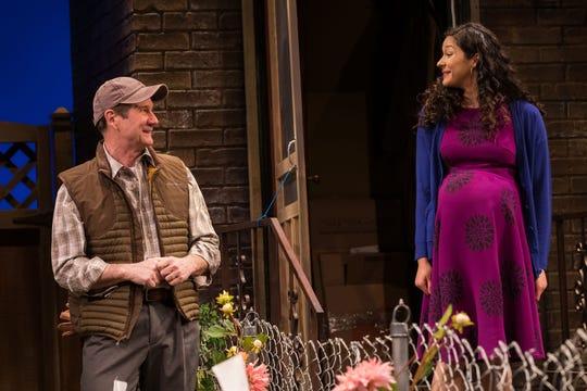 Paul DeBoy and Monica Rae Summer Gonzalez in Geva's production of Native Gardens.