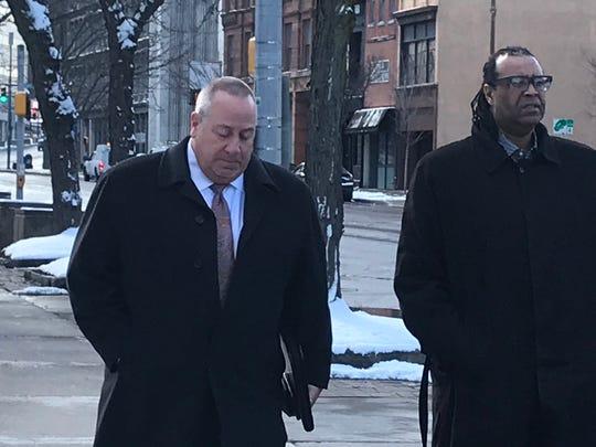 Adam McFadden arrives at federal court on Monday April 1, 2019