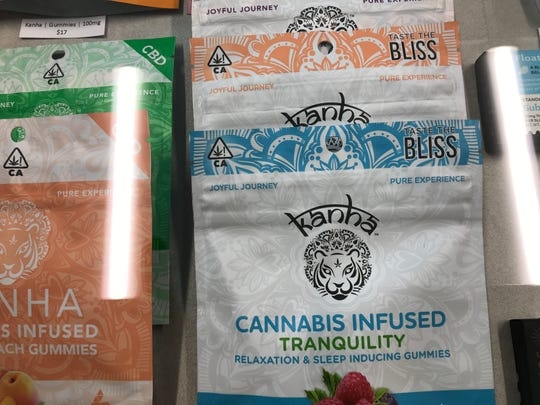 These cannabis-infused candies are being sold at Sundial Collective, LLC in Redding. The store, which opened in mid-March, is the second cannabis retailer, is Redding's second cannabis retailer.