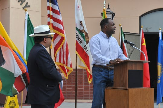 Seaside Mayor Ian Oglesby speaks at the Monterey County 2020 Census launch on April 1, 2019.