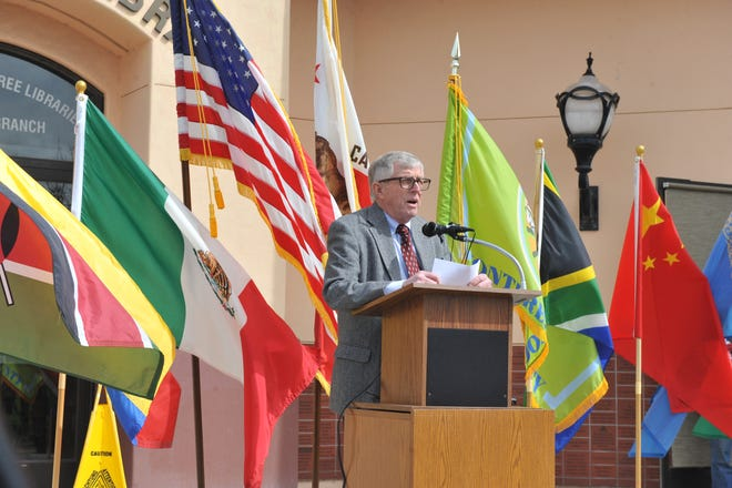Monterey County Board of Supervisors Chair John Phillips speaks at the county's 2020 Census launch on April 1, 2019.
