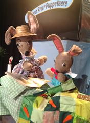 "The Fever River Puppeteers will perform ""The Tale of Bunny Cotton-Tail"" on Sunday, April 7 at 2 p.m."