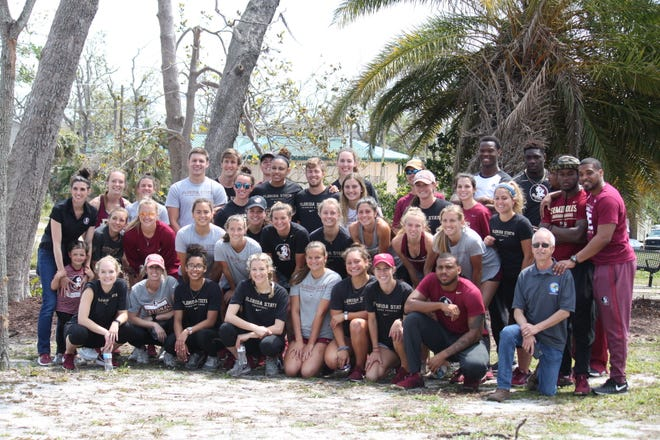 Approximately 35 FSU student-athletes across seven sports participated in a clean-up day in Panama City Sunday.