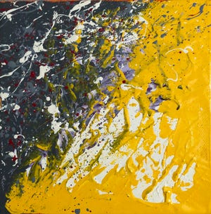 """Dany Taylor's """"Yellow"""" part of exhibit at Venvi Gallery."""