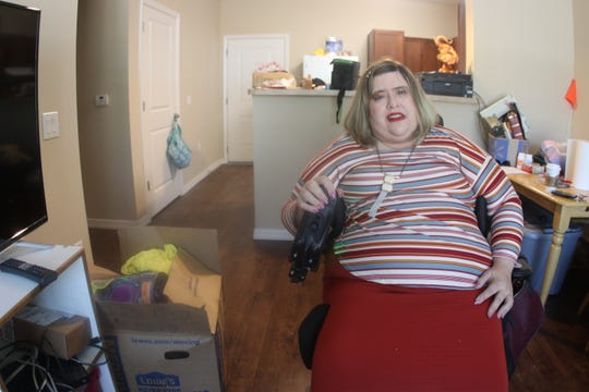 Amanda Baker, pictured March 5, is a former Panama City resident with a disability who recently moved into an apartment in Tallahassee. She says finding a new home that accommodated her needs through FEMA was a process that required hundreds of hours of negotiation.