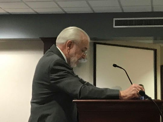 Ernie Bach, CEO of the Florida Silver-Haired Legislature, speaks out against a bill to take all local control away of regulating vacation rentals.