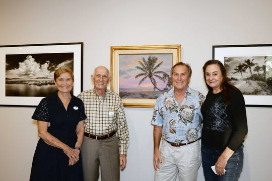 """Jackie and Herman Brice and Gary and Diane Van Horn at the opening reception for """"Backus & Butcher and the Florida Landscape"""" at the A.E. Backus Museum & Gallery in Fort Pierce."""