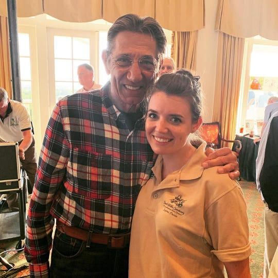 Joe Namath, former New York Jets quarterback, with Crissy Page of the Busch Wildlife Sanctuary.
