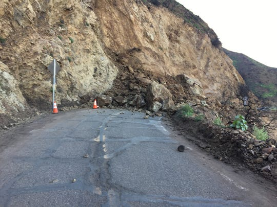 Yerba Buena Road is expected to be closed for at least several days after a rockslide.