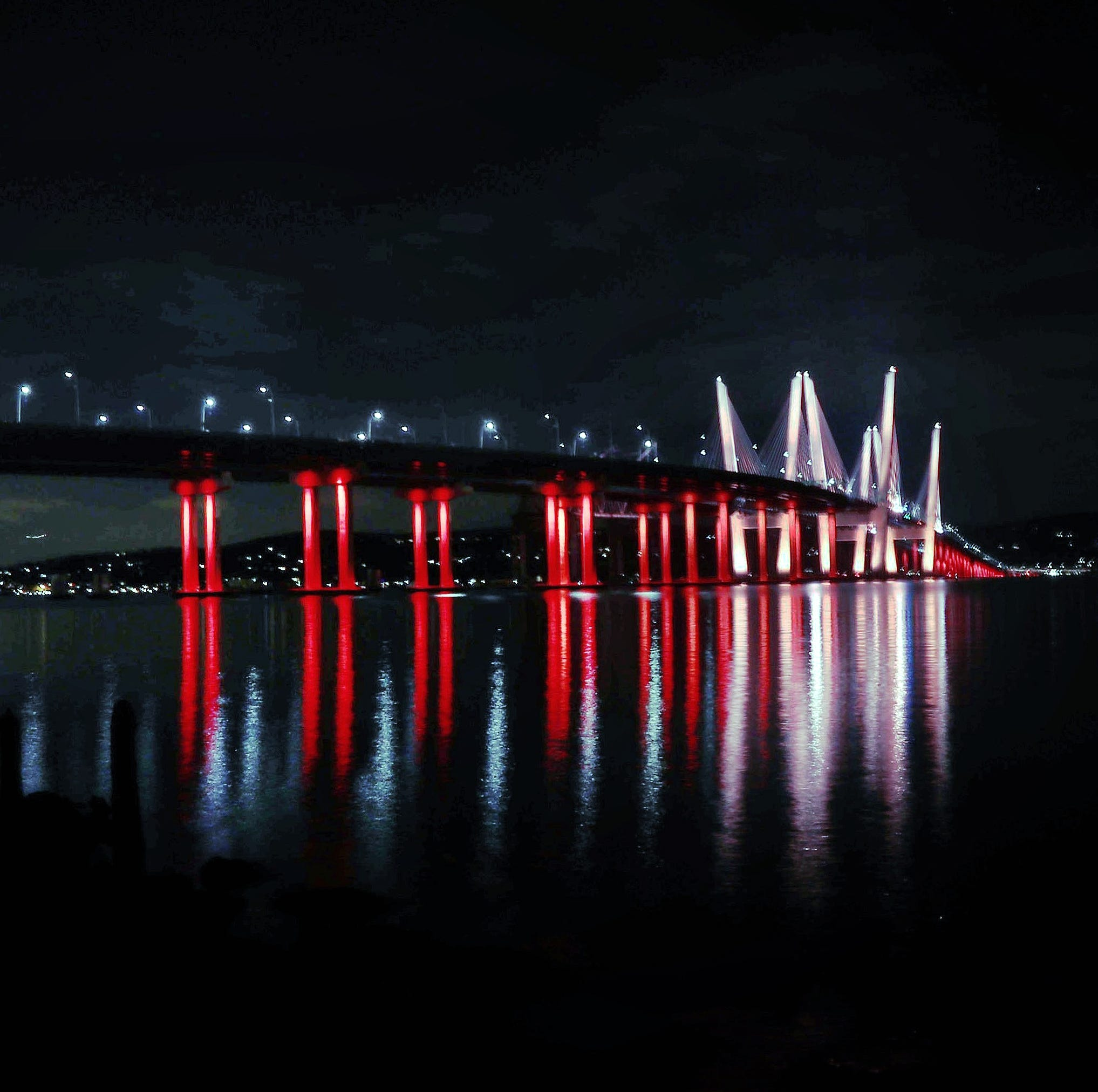 Why do Gov. Mario M. Cuomo Bridge lights change colors for special occasions, holidays