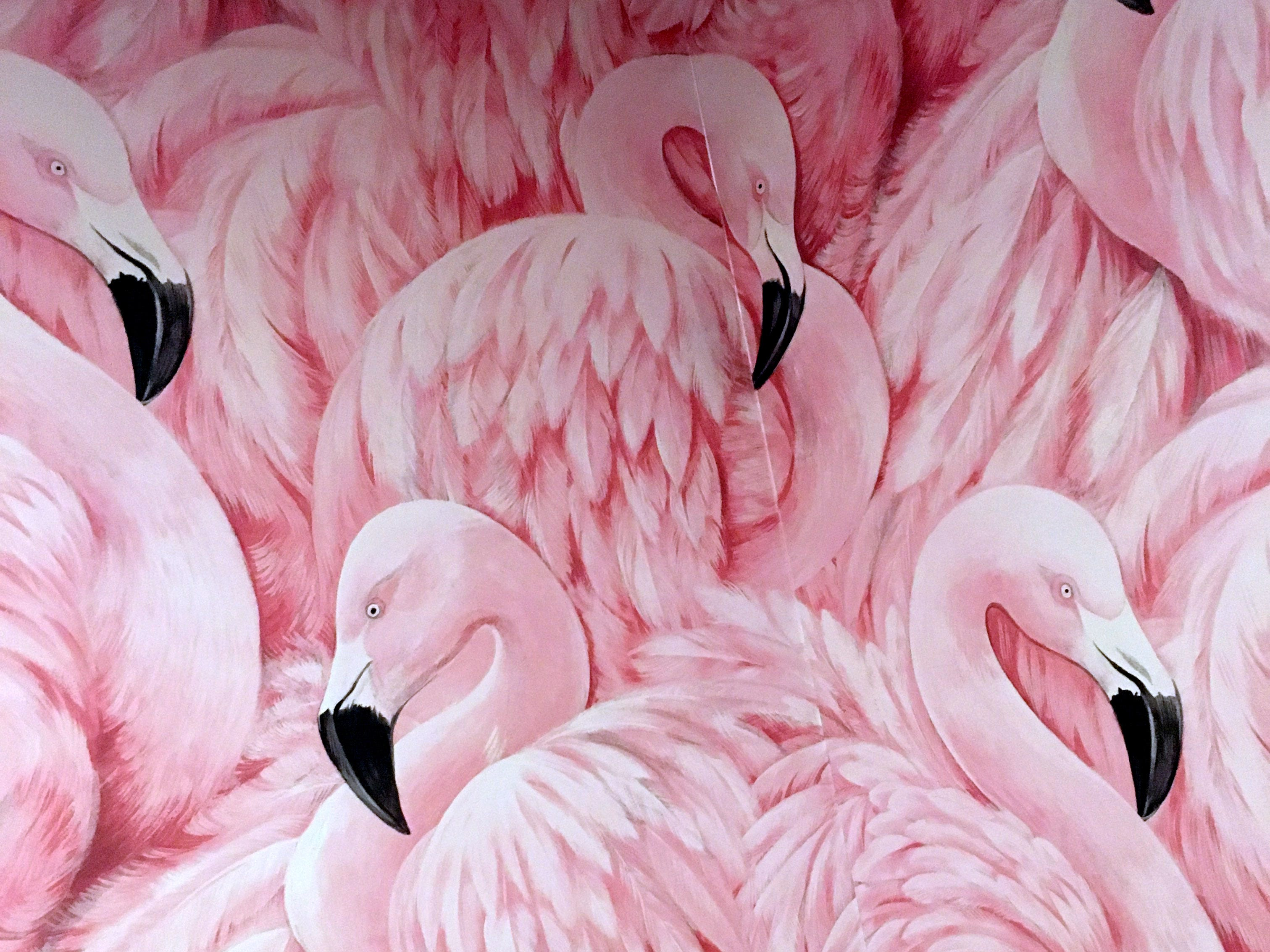 Eugene's in Port Chester March 29, 2019, is the new Dave DiBari restaurant. The restaurant has a 70s-era basement vibe with wood panels, floral wallpaper, laminate counters, and their icon is a pink flamingo.