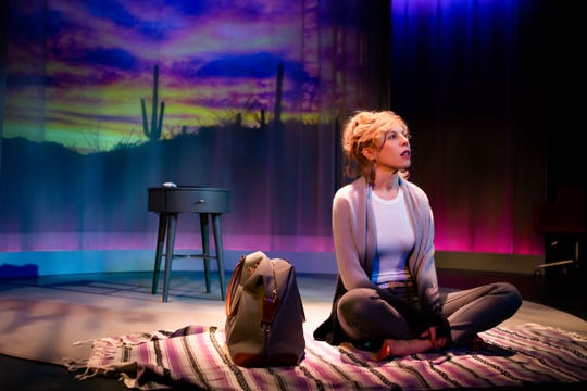 """Maddie Corman, who grew up in Irvington, New York, in """"Accidentally Brave,"""" the Off-Broadway one-woman show she wrote about navigating life after her husband's arrest on child-pornography charges shook her suburban life to the bedrock beneath its foundation."""