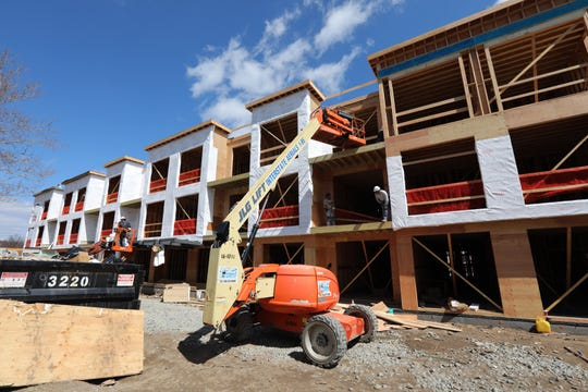 The Pavion apartment complex is under construction in Nyack April 1, 2019.