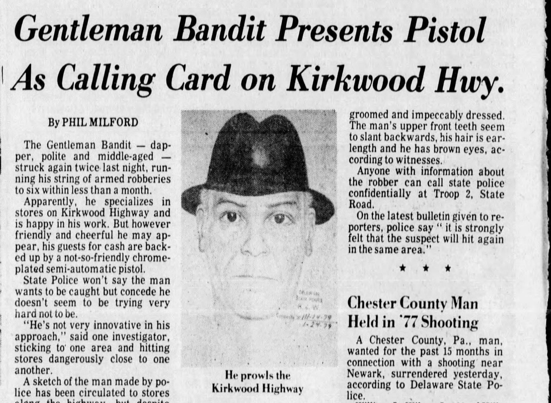 The true story of the case of the Gentleman Bandit: A