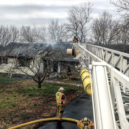 A homeowner refused to let anyone inside after his house after it started on fire Sunday.