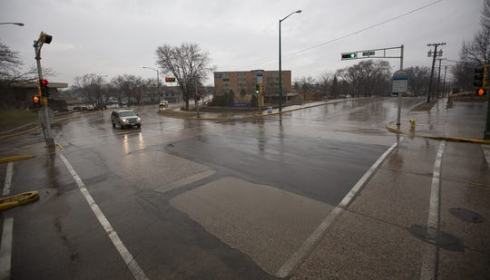 The intersection of East Grand Avenue and Lincoln and Jackson streets in Wisconsin Rapids.