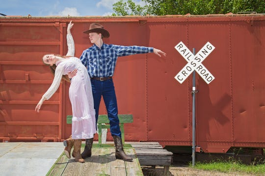 "The Western Hootenanny is the Wichita Falls Ballet Theatre's major benefit for 2019 and will take place from 7 to 10:30 tonight at the Downtown Wichita Falls Farmers Market. There is a special VIP hour beginning from 6 to 7 p.m. Shown are AJ Duhan and Ashlen Loskot performing in the company's ""The Western Ballet."""