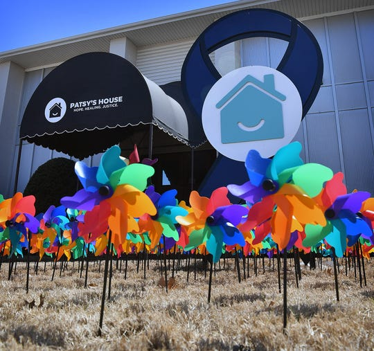 The 1,524 pinwheels spinning in the breeze in front of Patsy's House represent every investigated case of child abuse in Wichita County in 2018. Each donation of $20 removes a pinwheel.