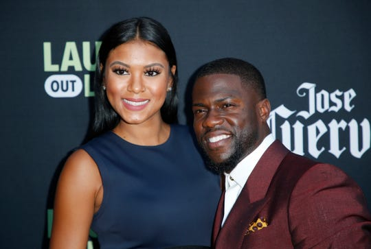 Kevin Hart, right, and his wife Eniko Parrish, who married in 2016.