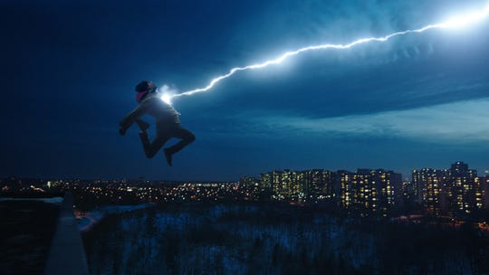 """Billy Batson (Asher Angel) becomes a superhero when he says a magic word in """"Shazam!"""""""