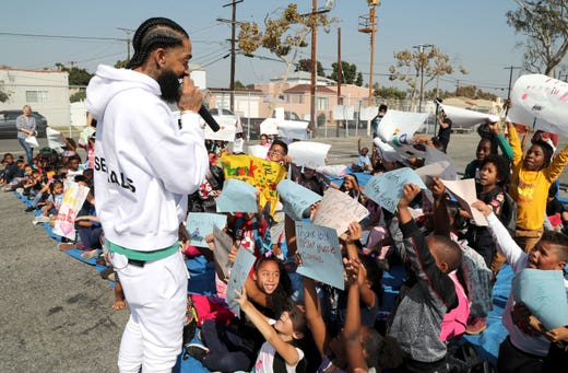 Rapper Nipsey Hussle, a Los Angeles fixture known for his community involvement and dedication to West Coast hip-hop, was shot to death March 31. Hussle (born Ermias Asghedom), 33, broke into the rap scene with his mixtapes and went on to collaborate with hip-hop stars including Kendrick Lamar, Childish Gambino and Snoop Dogg.