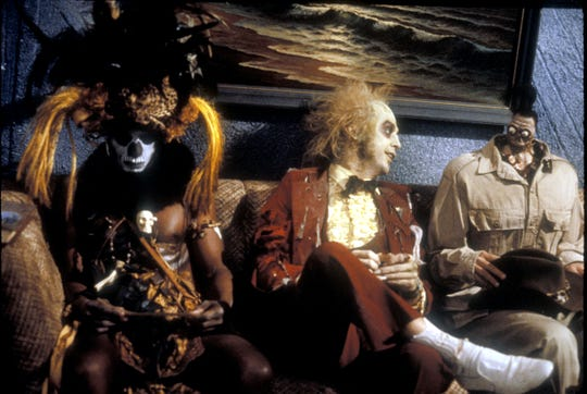 "Michael Keaton waits for his turn in ""Beetlejuice."""